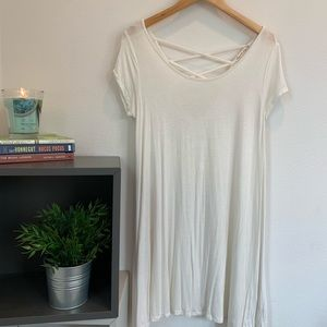 Dresses & Skirts - Cream T-shirt dress
